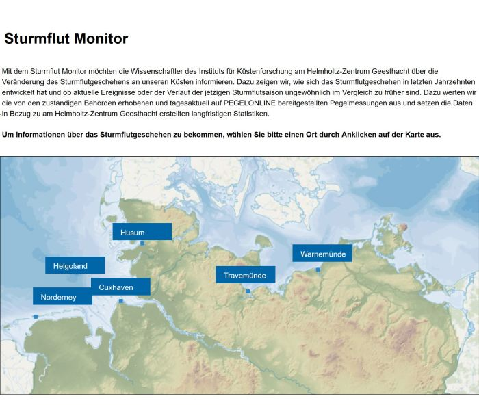 sturmflutmonitor.de Screenshot