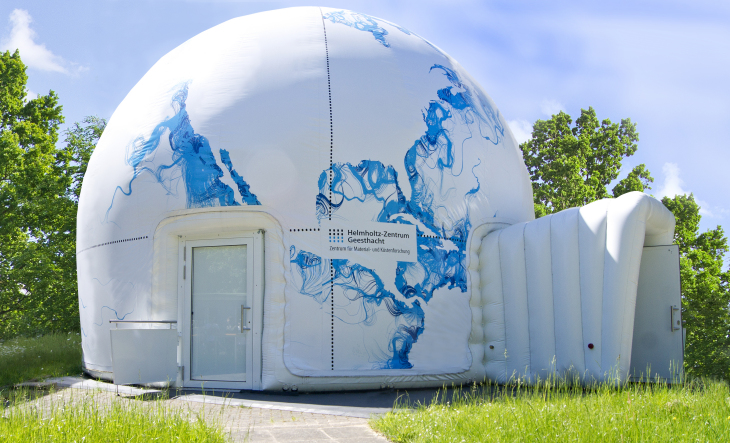 The Mobile Dome used as Hereon's own planetarium -image: Hereon-