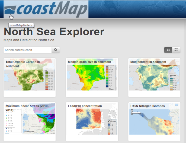coastMap North Sea Explorer