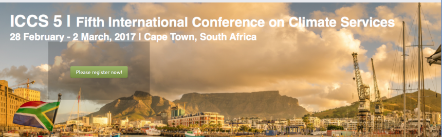 ICCS 5 I 5. International Conference on Climate Services 28.02.-02.03.2017 I CApe town, south africa