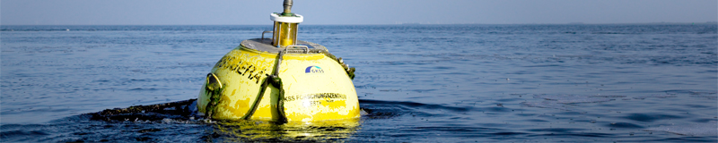 Waverider buoy in the North Sea