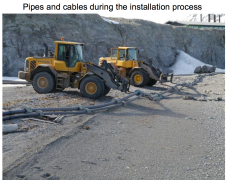 Pipes & cables during installation