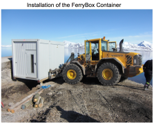 Transport of FerryBox container
