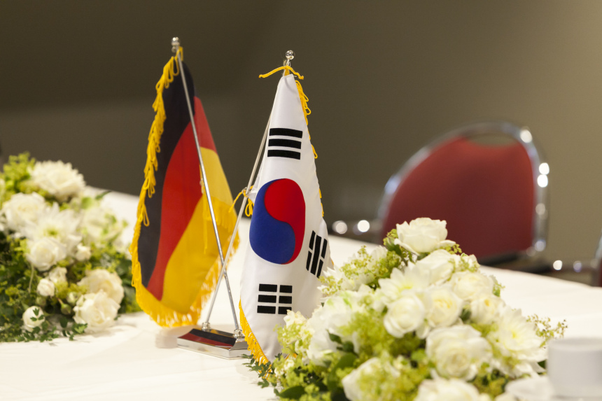 Two Flags: Germany and South korea