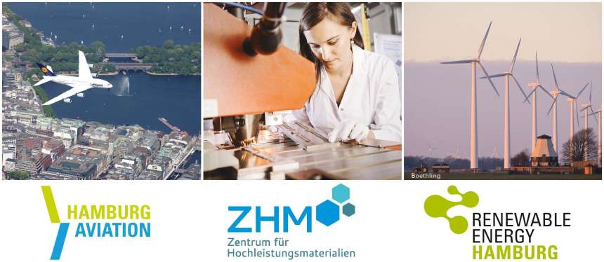 Logos: ZHM, Hamburg Aviation, Renewable Energie Hamburg