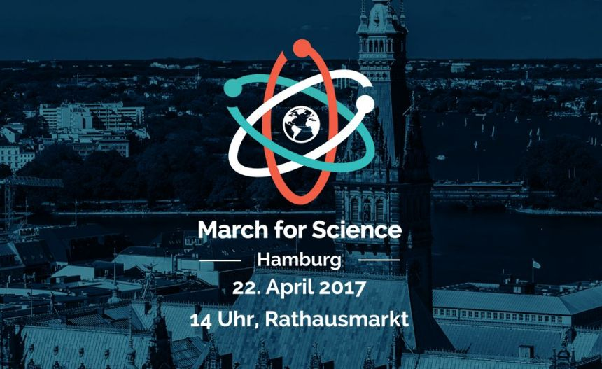 Logo: March For Science HAmburg 22. April.2017 14 Uhr, Rathausmarkt