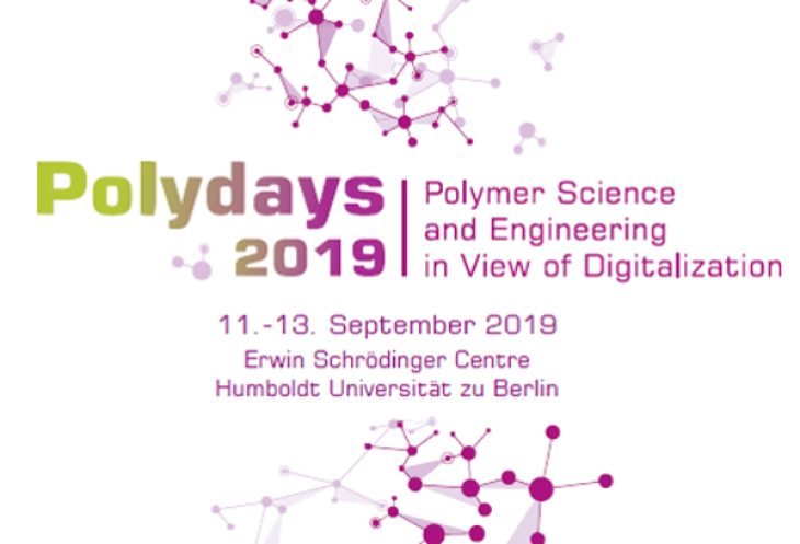Logo Polydays 2019 Polymer Science and Engineering in View of Digitalization. 11.-13. September 2019