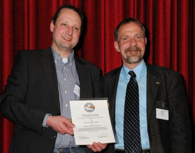 Prof. Dr. Detlef Günther from the ETH Zürich presented the Bunsen-Kirchhoff Award to Dr. Daniel Pröfrock
