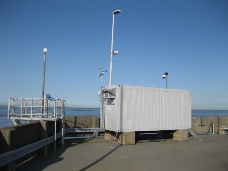 Stationäre Ferrybox in Cuxhaven. -Bild: Hereon-