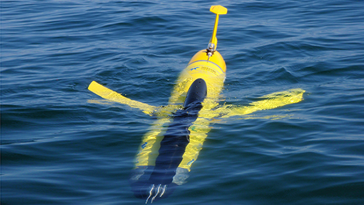 An ocean glider before diving. -Image: Raimo Koptezky/Hereon-
