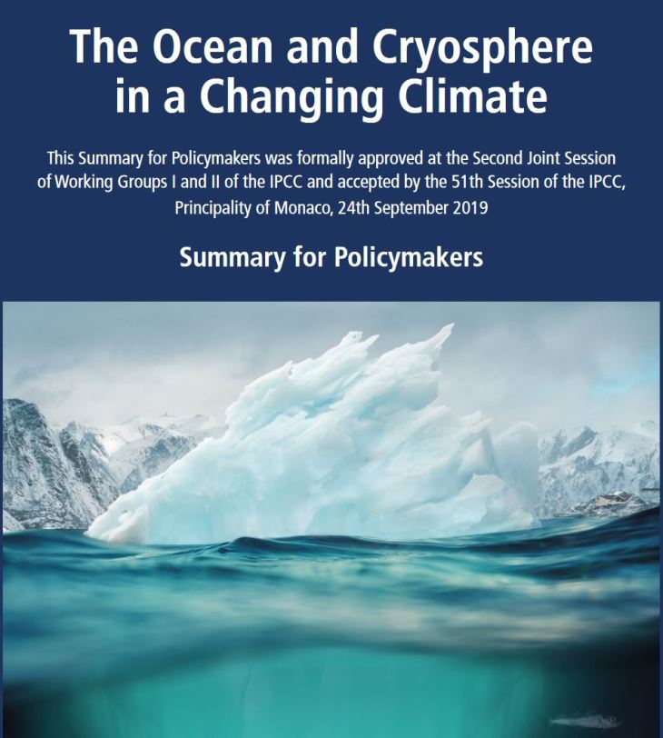 The Ocean and Cryosphere in a Changing Climate