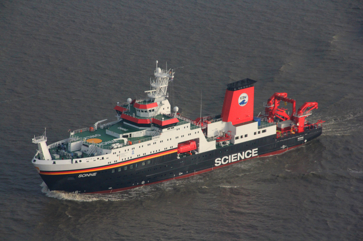 The research vessel SONNE
