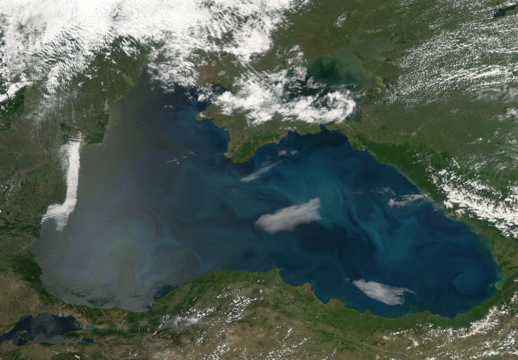 The Black Sea is bordered by six countries