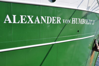 "The ""Alexander von Humboldt II"", the partner ship of this year's ""City of Science"", Lübeck, docked in Travemünde last week. (Photo: HZG)."