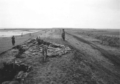 In the night from the 16th to the 17th of February 1962, the dykes were severely damaged by a storm surge, as can be seen here at the Oldsumer Vogelkoje on the island of Föhr.