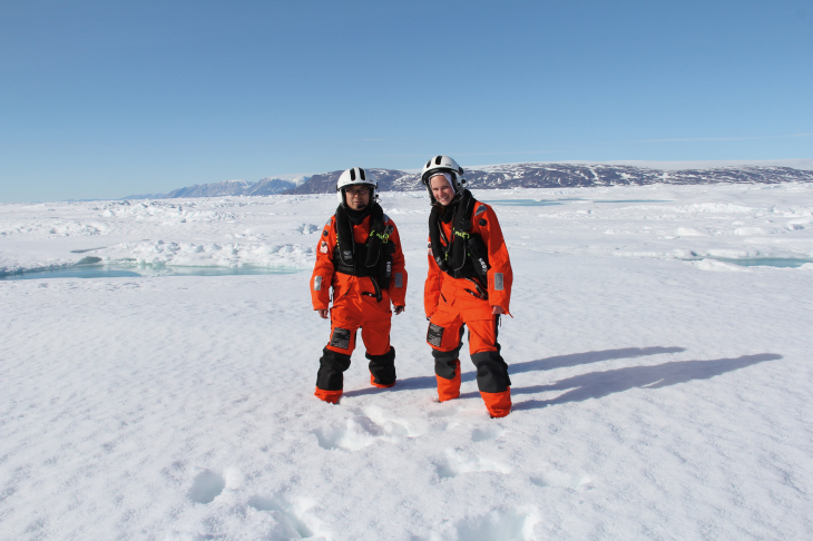 Dr Zhiyong Xie and Hanna Joerss in the Arctic.