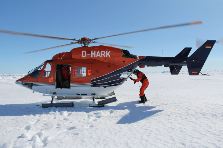 Helicopter on the ice