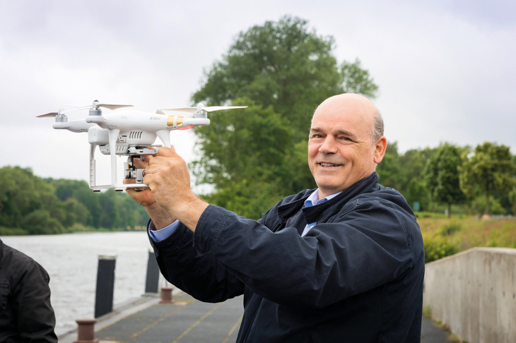 Dr. Jochen Horstmann with the drone