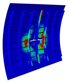 Failure simulation of an aeronautic structure