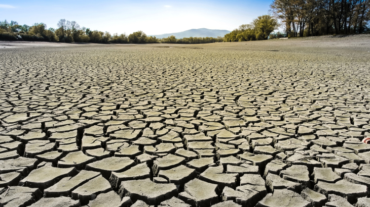 Symbol image dry soil to illustrate climate change