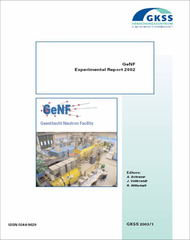 GeNF Experimental Report 2002 (28MB)