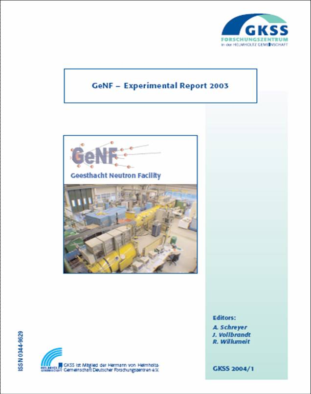 GeNF Experimental Report 2003 (23MB)