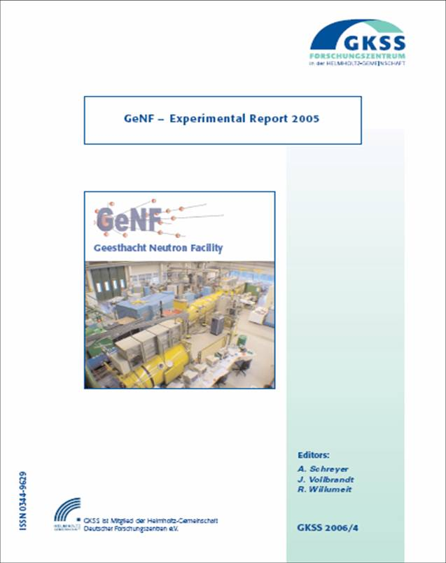 GeNF Experimental Report 2005 (137MB)
