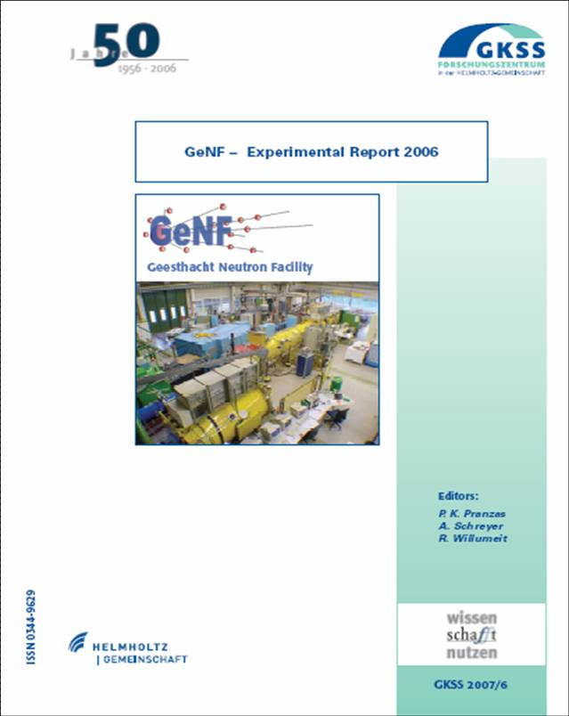 GeNF Experimental Report 2006 (29MB)